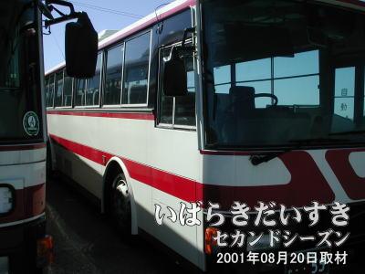 運転主席側から見た連節バス