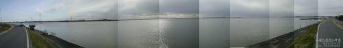 霞ヶ浦を潮来側から土浦方面を眺める絵<br>潮来方面からの霞ヶ浦。飲み込まれそうなほど雄大です。