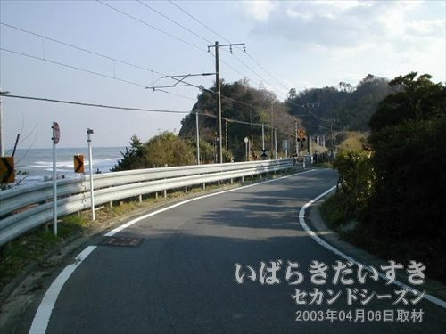 アスファルトの道を歩き、台ノ山トンネルの反対側を目指す<br>トンネルが通れないのなら、その上を通ればよい。