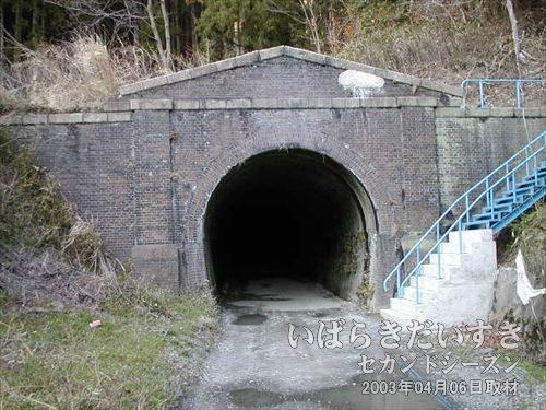 常磐線 旧トンネル 末続トンネル(末続駅方面)<br>ゴシック調なデザイン。レンガで作られており、ローマ風です。
