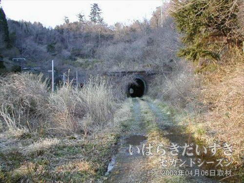 夕筋トンネル(末続駅方面)<br>末続トンネルからすぐに、夕筋トンネルが見えてきました。