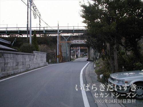 末続駅に向かう<br>道がアスファルトになったので、駅が近い。
