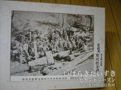 末続駅の歴史の写真<br>地元民による、手づくりの駅舎であることが、写真で学習できます。