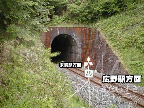 現行 東禅寺山トンネル〔広野駅側〕のViewPoint<br>すると、現行の東禅寺山トンネルの撮影ポイントに出ることができました。