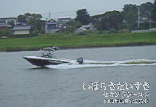 ウォーターボート<br>ジェットホイルと併走します。