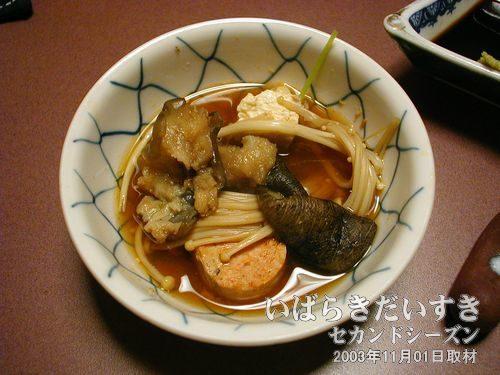 あんこう鍋ができた<br>こりこりとした食感から、ぐにゃぐにゃしたものまであります。