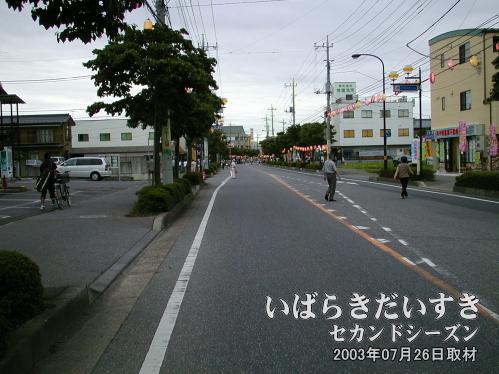 花見月通り(茨城県牛久市)<br>この区間はまだ、お祭り会場ではありません。会場はもう少し先になります。