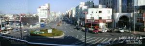 常磐線 勝田駅 東口ロータリー(土浦以北の)常磐線の中でも、こんなに広大な駅舎、ロータリーはめずらしい。