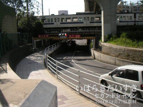 川口川閘門<br>土浦駅の東口から西口に行く近道。昔はここと霞ヶ浦がくっついていました。