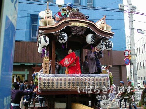田中一丁目のおかめ<br>こちらもおかめが登場。新川囃子 親友組 社中です。