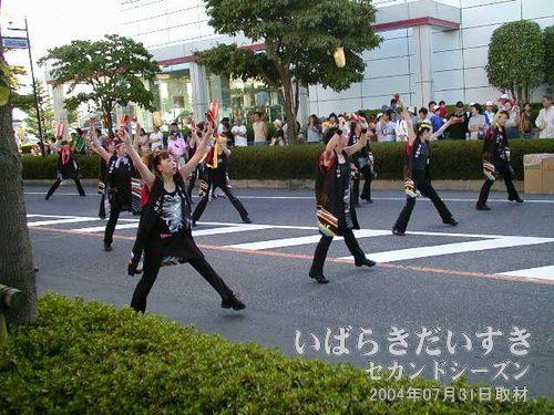 よさこい踊りパレード<br>アクティブな踊りで、祭りに活気を与えてくれます。