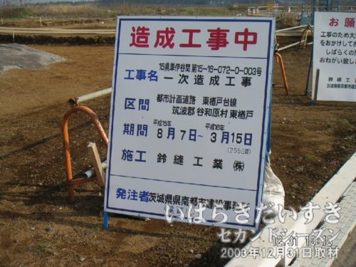 2003年当時、地名はまだ谷和原村でした。
