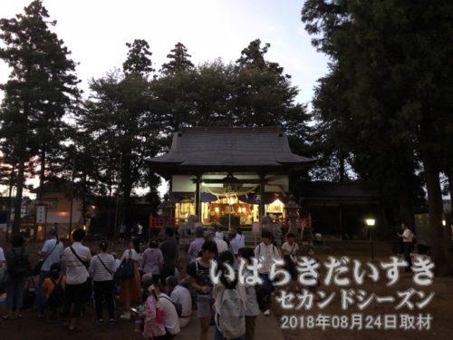 小張の愛宕神社 拝殿〔茨城県つくばみらい市小張〕