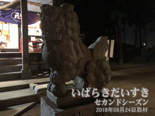 小張 愛宕神社 狛犬 阿形