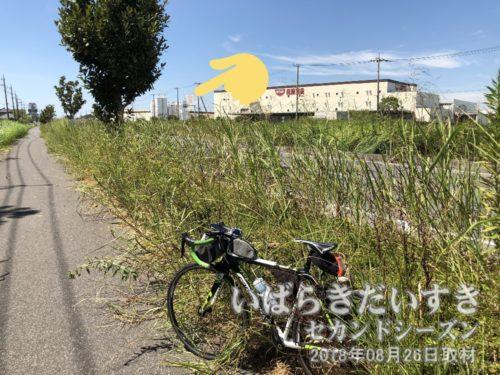 日清食品 関東工場〔茨城県取手市清水〕<br>いつも常磐線の車窓から見ていた、カップヌードルをデザインした煙突です。