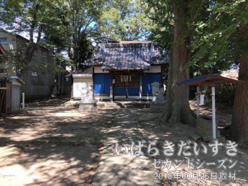 あちらが熊野神社の拝殿のようだ。