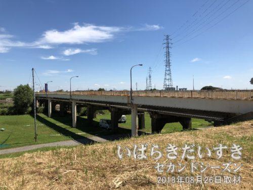 県道208号で小貝川を渡ります。
