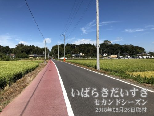 旧水戸街道を、若柴宿方面へ進む。