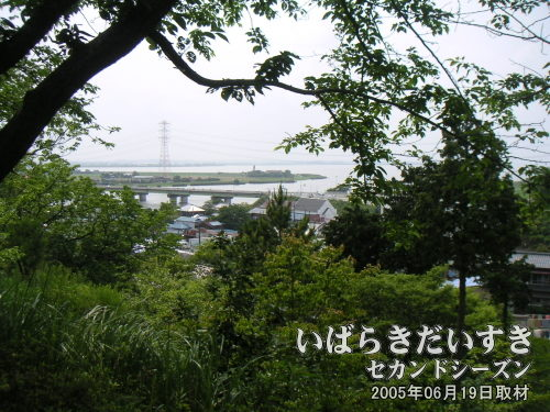 富嶽三十六景 常州牛堀に似た風景<br>権現山公園〔茨城県潮来市牛堀〕から見た風景で、この構図が「常州牛堀」に似ていると思いました。