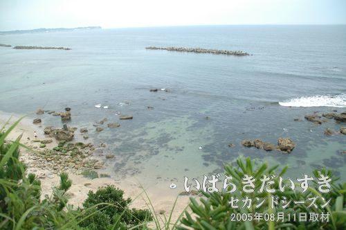 天妃山山頂から見た海岸