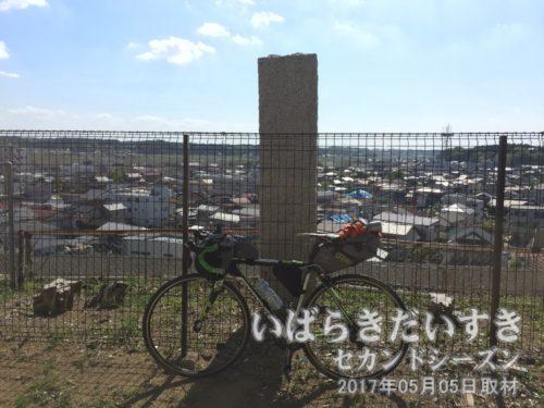 茨城県立鉾田第二高等学校から鉾田市街地を望む