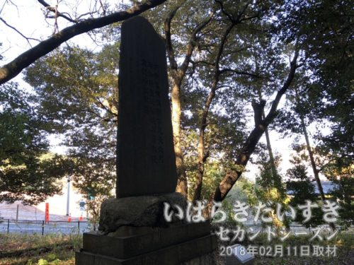 「藤田東湖泉ヶ森納涼詩」の碑