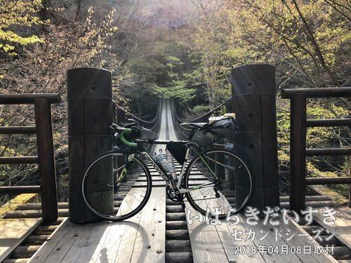 汐見滝吊り橋〔茨城県高萩市中戸川〕