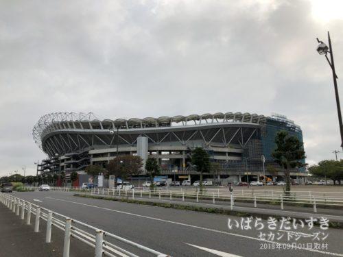 鹿島サッカースタジアム。初めて来ました。