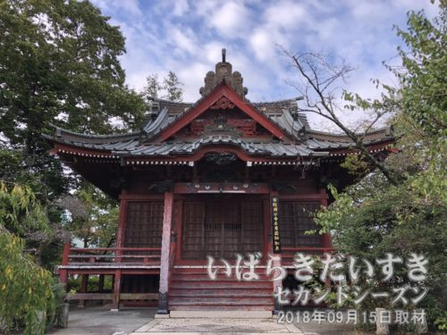 常陸国分寺 本堂<br>「常陸国分寺」は聖武天皇の勅願により諸国六十六箇所に建立された寺のひとつ。