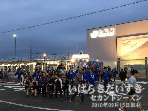 JR常磐線 石岡駅前広場。