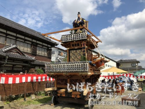 青木町の山車(菅原道真)も休憩中。