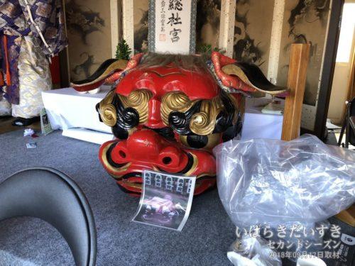昭和初期に製作された、森木町の獅子頭。