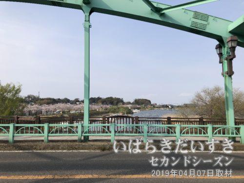 大正橋から小野川(霞ヶ浦方面)を望む