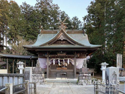 加波山神社 本宮 里宮拝殿