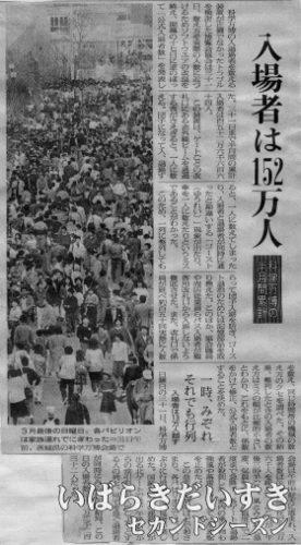 入場者は152万人~1985年04月01日の記事