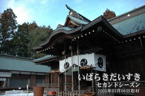 吉田神社 拝殿(茨城県水戸市)<br>常陸國三の宮吉田神社。祭神に日本武尊を祀る。