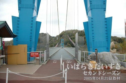竜神峡大吊橋〔茨城県常陸太田市天下野町〕