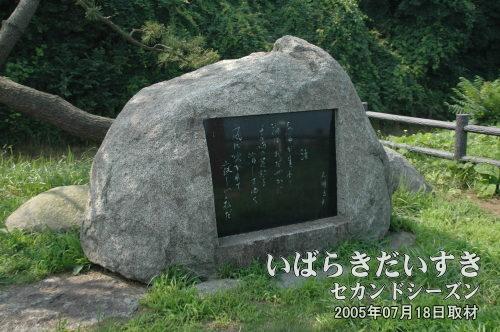 大関五郎の詩碑:渚