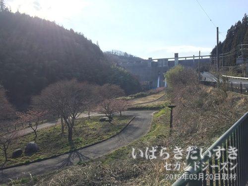 小山ダム<br>平成18年に完成した茨城県内で一番新しいダム。県内最大級の大きさを誇ります。