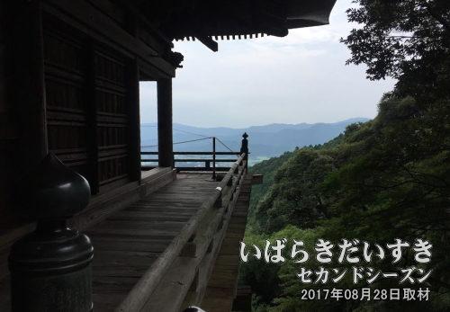 峰寺山 本堂からの眺め<br>西光院側としては、「観光地ではなく、信仰の場所である。適切な対応、配慮をお願いします」という姿勢を表わしています。