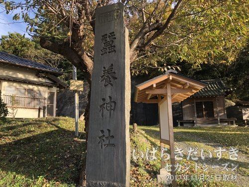 蚕養神社(こがいじんじゃ)〔茨城県日立市川尻町〕 蚕産業の始まりを祀った神社。「金色姫」伝説の神社は数多くありますが、「豊浦」はこの川尻の地です。
