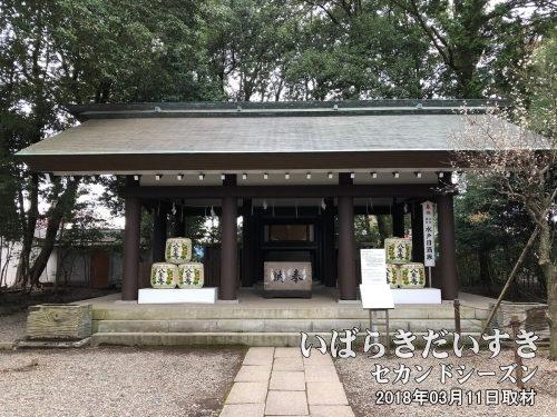 【 東湖神社 】<br /> 斉昭公の片腕として活躍した、藤田東湖先生を祀る神社。安政の大地震(1855)で亡くなる。