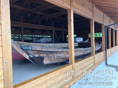 有形民俗文化財 帆引き船 展示