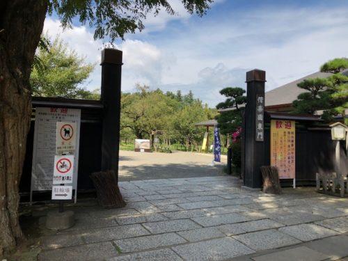 偕楽園 東門<br>JR常磐線 偕楽園臨時駅やバス停、常磐神社、偕楽園レストハウスなど寄りの最もメジャーな入口。