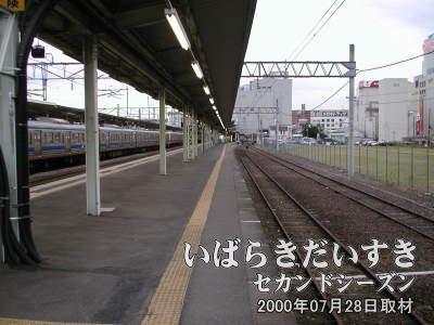 つくば訪問道中記で訪れた、常磐線土浦駅。2000年07月28日撮影。