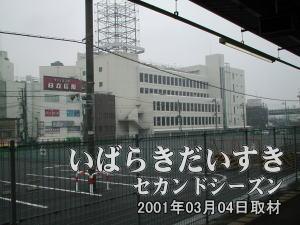 遠くに見えるはイトーヨーカドー(旧)土浦店。こちらの店舗が閉店した後、現在は土浦駅西口に移転しています。