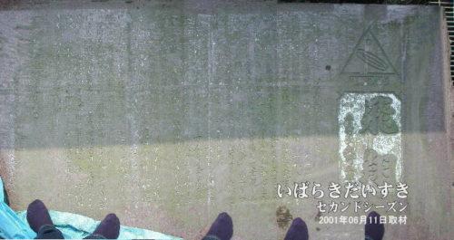 連続写真にて、記念碑をつなげてみました。碑の上に乗っての撮影である事はご勘弁を・・・。一応、靴は脱ぎましたので。。