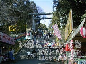 【常盤神社への階段】<br>偕楽園駅から歩いてすぐの場所に、こういった階段が見つかります。