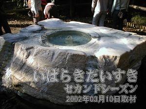 【吐玉泉】<br>かつて茶室「何ろう庵」(かろうあん)にて茶の湯に供されていました。