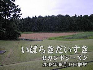 【SONYジャンボトロン 跡】<br>テニスコートのある場所に当時、SONYのジャンボトロンが設置されていました。